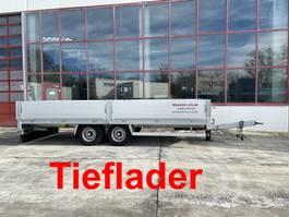 lowloader semi trailer Möslein THT 11 Schwebheim  Tandem- Pritschenanhänger- Tieflader-- Neuwertig -- 2019
