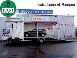 car transporter truck Mercedes-Benz 822 Atego Geschlossener Transport + el. Rampen 2009
