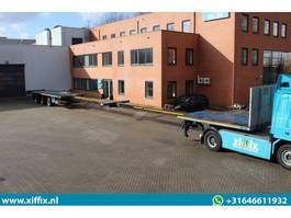 flatbed semi trailer Goldhofer 3-ass. Vlakke dubbel (2x) Uitschuifbare oplegger // 3x gestuurd 2000