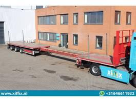flatbed semi trailer Nooteboom 3-ass. vlakke uitschuifbare MEGA oplegger // 3x gestuurd 2012