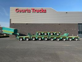 lowloader semi trailer Kamag K 22 14 MODULE AXEL LINES WITH GOOSNECK AND GREINER BED 2010