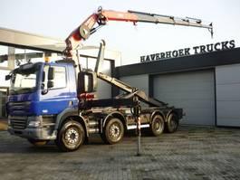 crane truck DAF CF 85.410 8x4 Euro 4 Fassi F260 XP ATM Hooklift 2007
