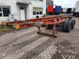 container chassis semi trailer Fruehauf BPW - Steelspring - Dubble air 1990