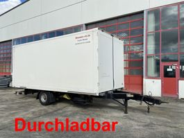 closed box trailer Möslein EK 1- D  1 Achs Kofferanhänger, Durchladbar 2014