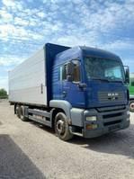 closed box truck > 7.5 t MAN 26.430 Getränke Orten