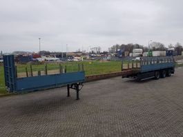 flatbed semi trailer Broshuis Extendable 21 M 3x Steering 1995