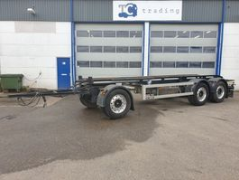 container chassis trailer GS Meppel 27 ton container aanhanger. 2016