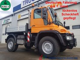 tipper truck > 7.5 t Mercedes-Benz Unimog U 400 4x4 3 S. Wechsellenkung Scheckheft 2008
