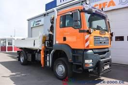 tipper truck > 7.5 t MAN TGA 18.360 4x4 Atlas Kran Meiller + Winterdienst 2007