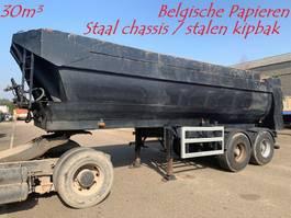 tipper semi trailer Kaiser 30m³ - HALF PIPE KIPPER - BELGISCHE PAPIEREN - HYDR ACHTERKLEP / VALVE -... 1997