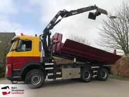 tipper truck > 7.5 t Terberg FM1350 6x6 met Hyva 2 zijdige kipper met HMF 1253 K2 kraan 2003