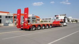 lowloader semi trailer Lider extendable lowbed semi trailer 2020
