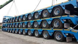 semi lowloader semi trailer Lider multi axle lowbed semi trailer 2021