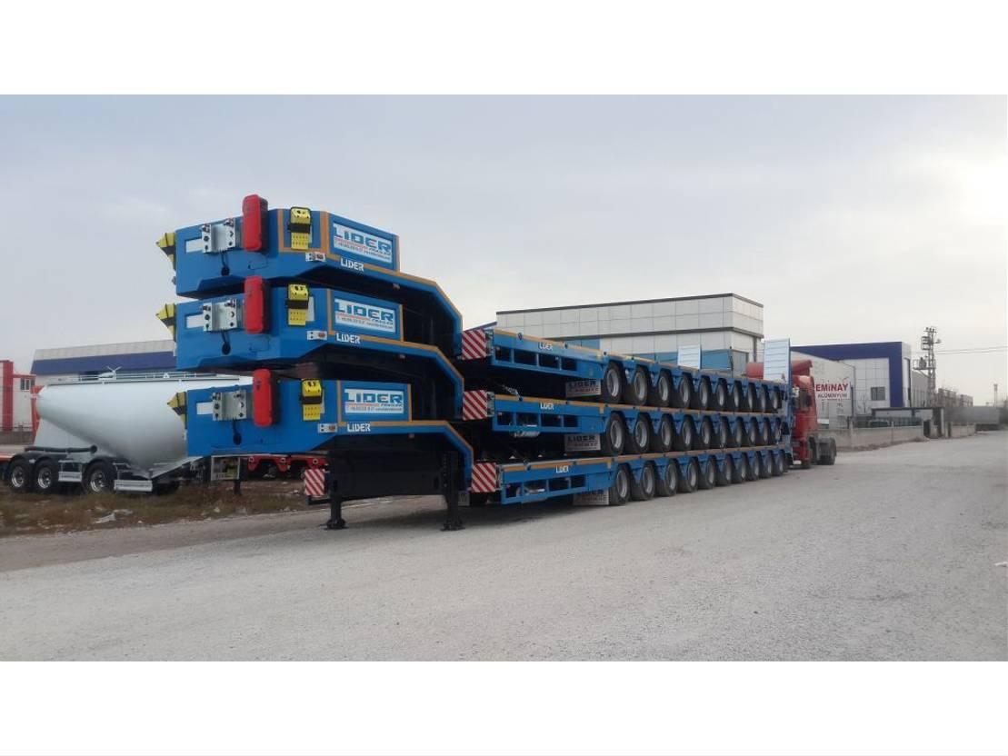 Tieflader Auflieger Lider multi axle lowbed semi trailer 2020