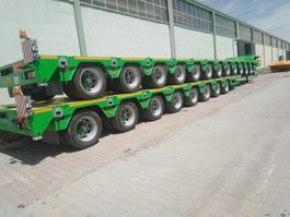 lowloader semi trailer Lider Extendable 8 axle lowbed semi trailer 2021
