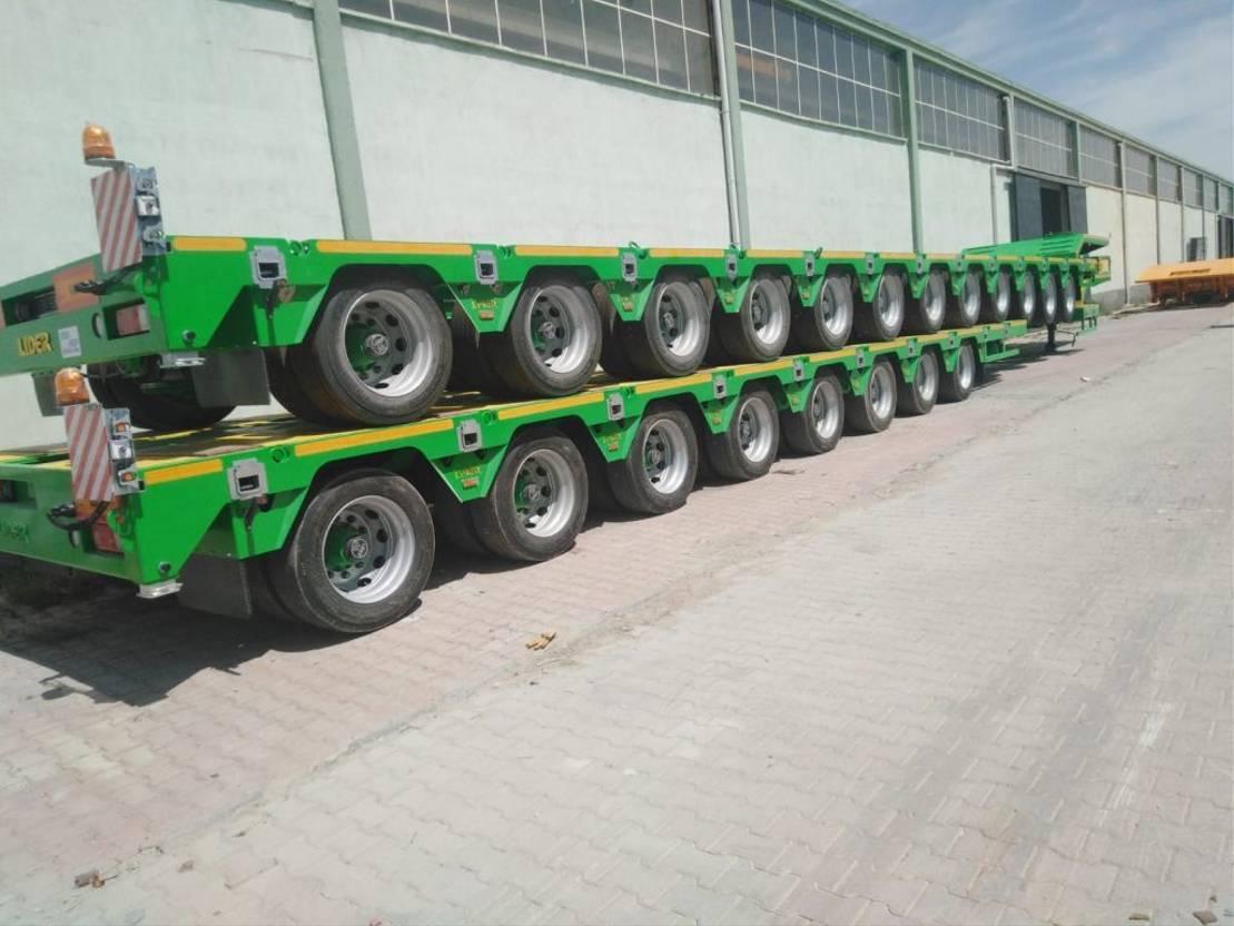 Tieflader Auflieger Lider Extendable 8 axle lowbed semi trailer 2020