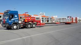 lowloader semi trailer Lider extendable 6 axle lowbed semi trailer 2021