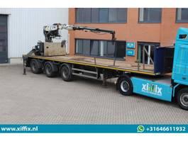 flatbed semi trailer Kennis 3-ass. Steenoplegger met Kennis 16 ton/mtr. Kraan 2008