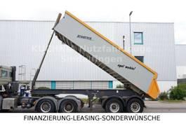 tipper semi trailer Langendorf SKA 18/28 Alukastenmulde Rollplane Luftgefedert 2005