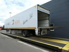 closed box semi trailer Pacton Gesloten opbouw met stuuras en laadklep 2009