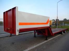 lowloader semi trailer Van Hool 2 As Oplegger Dieplader Open, OS-03-HV 1988