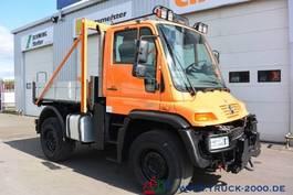 drop side truck Unimog U 400 4x4 Winterdienst Wechsellenkung Klima AHK 2007