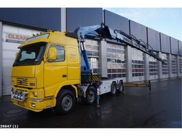 cab over engine Volvo FH 16.520 8x4 Fassi 90 ton/meter laadkraan 1999