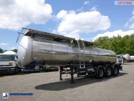 tank semi trailer semi trailer Feldbinder Food tank inox 23.5 m3 / 1 comp + pump 2001