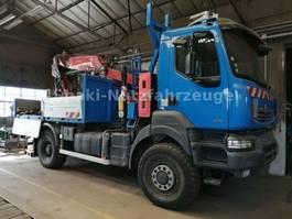 crane truck Renault KERAX 380 4x4 + KRAN FASSI F245 + WINDE