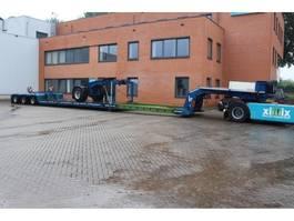 lowloader semi trailer Nooteboom 3-ass. Uitschuifbare dieplader met afneembare nek en 1-ass. Dolly 2011