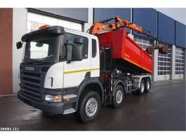 tipper truck > 7.5 t Scania P 380 8x4 Terex 11 ton/meter laadkraan 2009