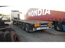 flatbed semi trailer ARB Two axle trailer with twist locks for containers. 1988
