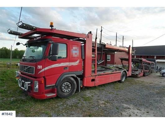 car transporter truck Volvo FM 440 car carrier with Kassbohrer trailer 2010