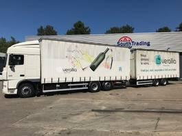 sliding curtain truck DAF XF105 460 6x2 Euro 5 retarder 2012