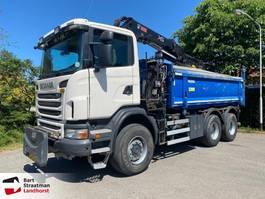 tipper truck > 7.5 t Scania G 360 B 6X6 2 zijdige kipper met Hiab 144 kraan 2 PIECES IN STOCK 2012