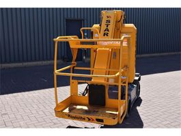 articulated boom lift wheeled Haulotte STAR 10 Electric, 10m Working Height, 3m Reach, Ji 2015