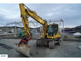 wheeled excavator Komatsu PW148-8 w / rotor tilt and 2 buckets WATCH VIDEO 2013