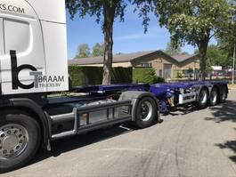 container chassis semi trailer Pacton T3-010 20/30/40 en 45 voet  Uitschuif .  ALS NIEUW 2007
