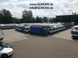 closed box truck > 7.5 t Mercedes Benz ATEGO IV 818 L Koffer 6,10 m LBW 1 to. 49 tkm 2017