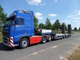semi lowloader semi trailer Faymonville F-S44-1AAA Semi Low loader with hydraulic ramps 2013