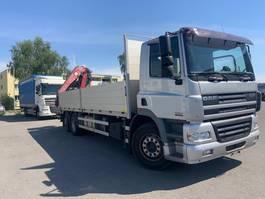 drop side truck DAF CF 84.430  6x2 Cran FASSI 235 Funk, AHK 2006