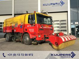 Road sweeper truck DAF 65.180 Euro 2 // Manual // Kehrmaschine // 3 piece Sweeper // High press... 1995