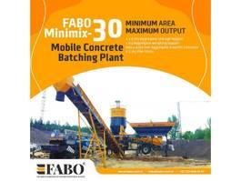 concrete batching plant Fabo MINIMIX-30 Mobile Container type Concrete Plant Mobile 2020