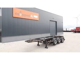 container chassis semi trailer Van Hool 20FT/3-Achsen, Leergewicht: 3.300kg, SAF INTRADISC, 2x Liftachse, ADR (E... 2005