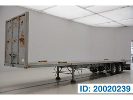 flatbed semi trailer Samro Plateau 1993