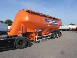 feed semi trailer Feldbinder EUT 57.3 6 Kammern Lenkachse 57m³ 2008