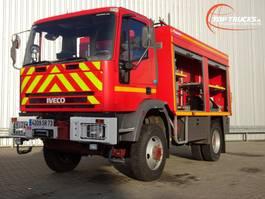 fire truck Iveco 95 E21 4x4 feuerwehr - fire brigade - brandweer -3500 ltr. water tank- p... 1997
