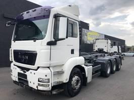 container truck MAN TGS 35.440  - TRIDEM - RETARDER 2010
