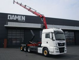 container truck MAN TGS 35.480 8x4 Tridem Euro 6 2016