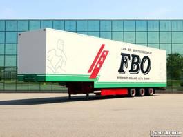 closed box semi trailer Burg BPD0 12 24 L Gesloten Semi Dieplader. 1997